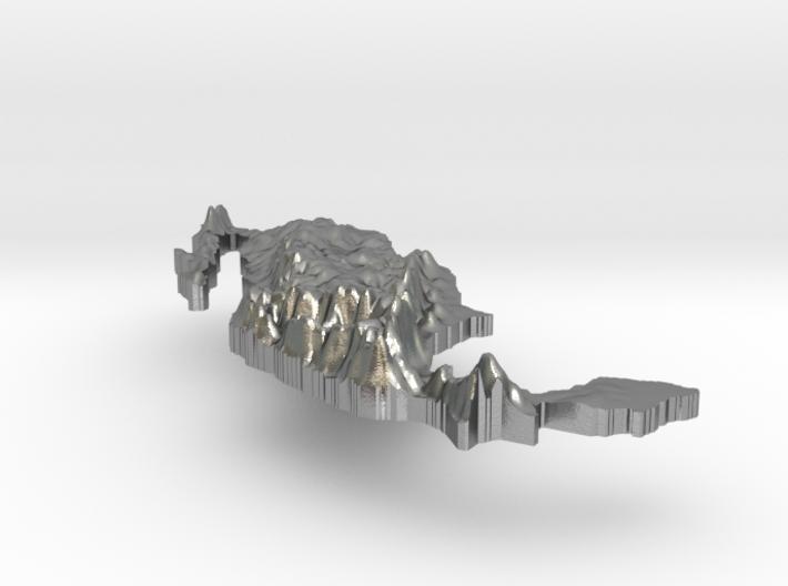 Mexico Terrain Silver Pendant 3d printed