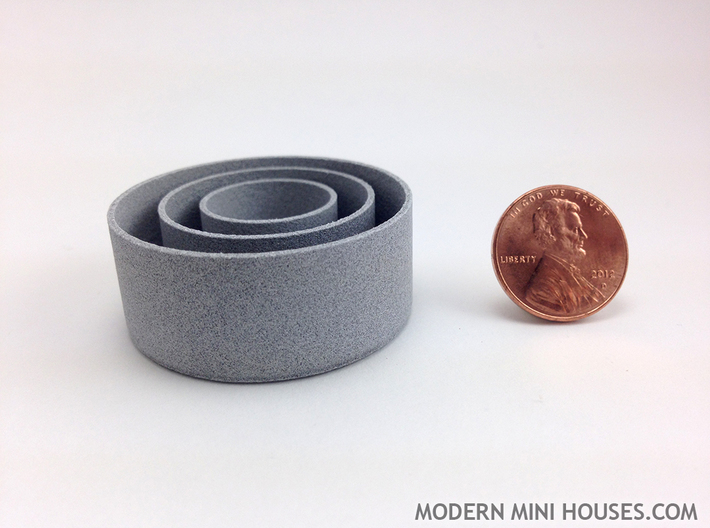 Cylinder Planters Smooth Collection 1:12 Scale 3d printed