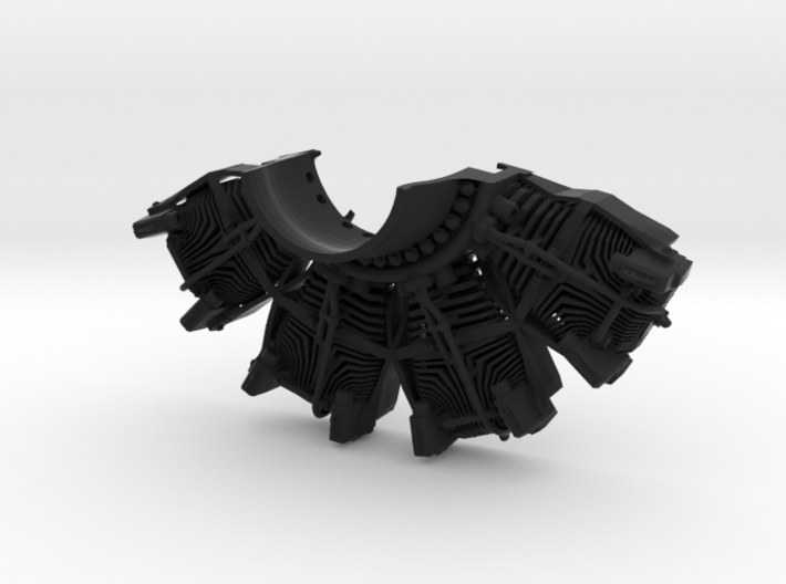 RC Faux Radial Engine_TOP 3d printed