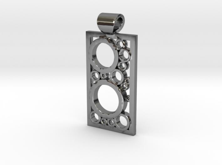 Encased Rings Pendant 3d printed
