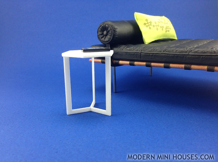 Hexagon End Table 1:12 scale dollhouse miniature 3d printed