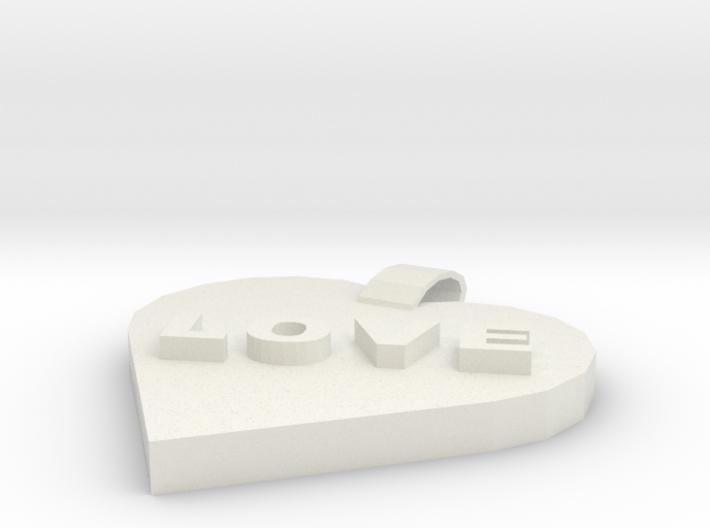 Love pendant 3d printed