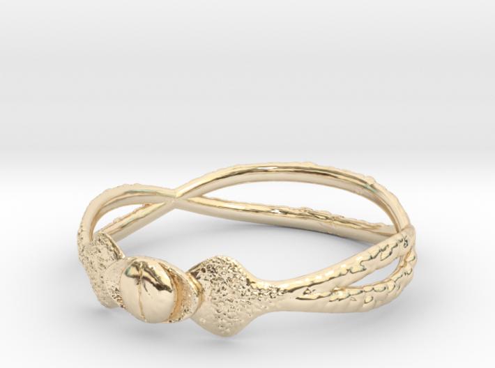 Snake ring(size = USA 5.5) 3d printed