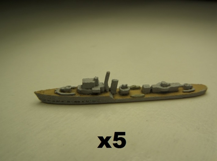 Ledbury (Hunt II class) 1:1800 x5 3d printed Comes unpainted.  Set of 5