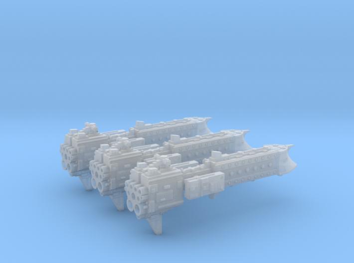 'BFG' Terran Scimitar Class Escort Ship Squadron 3d printed