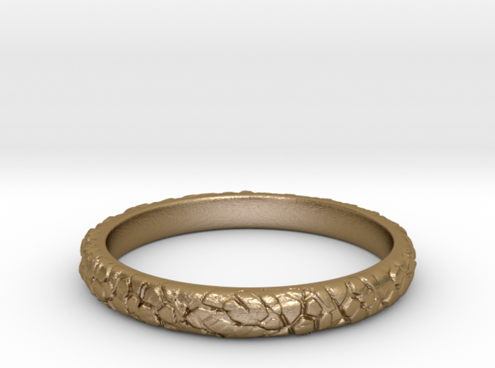 Rock ring(size = USA 5.5) 3d printed