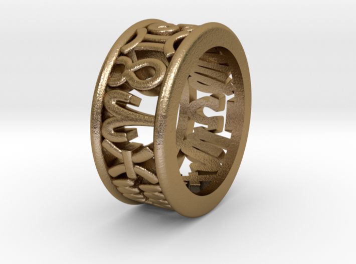 Constellation symbol ring 4-4.5 3d printed