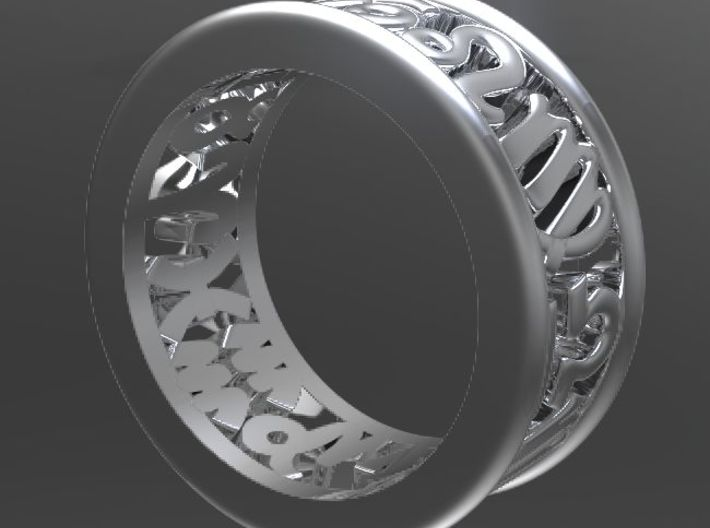 Constellation symbol ring 6 3d printed