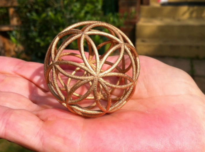 3D 100mm Orb of Life (3D Seed of Life) 3d printed