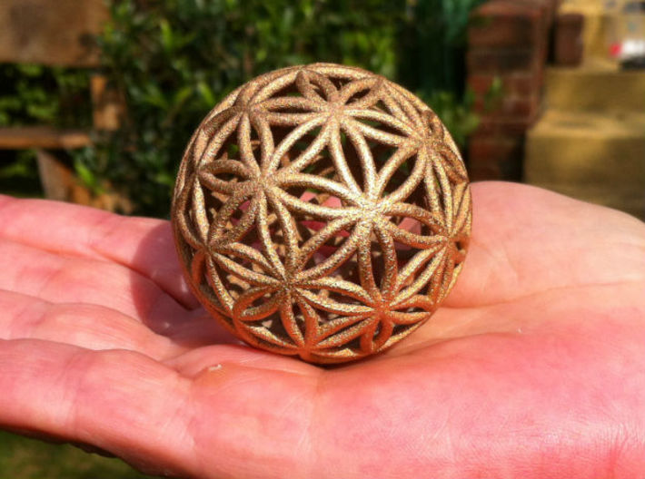 3D 100mm Orb of Life (3D Flower of Life) 3d printed