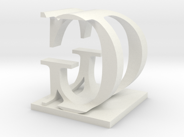 Two way letter / initial D&G 3d printed
