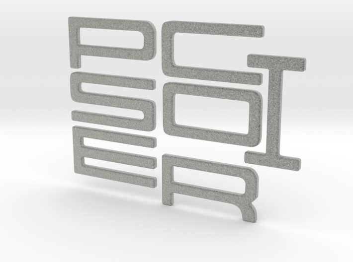 PORSCHE Style Letters 3d printed