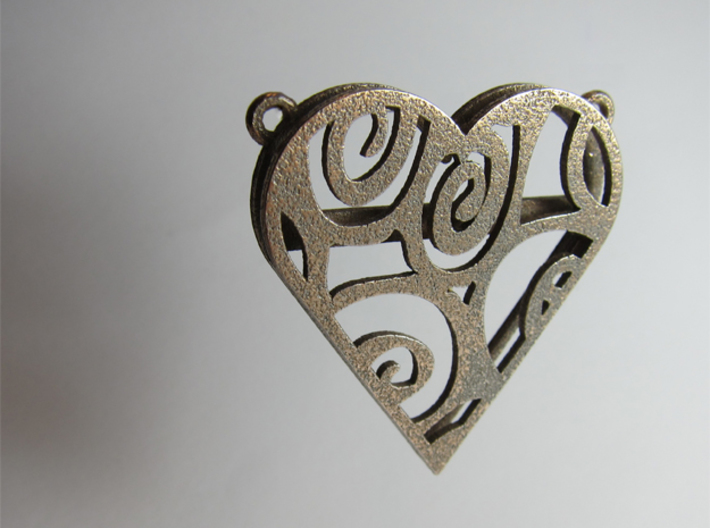 Coloured Heart 3d printed