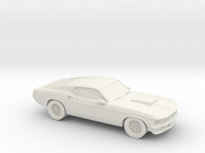 1/87 1969 Ford Mustang 3d printed