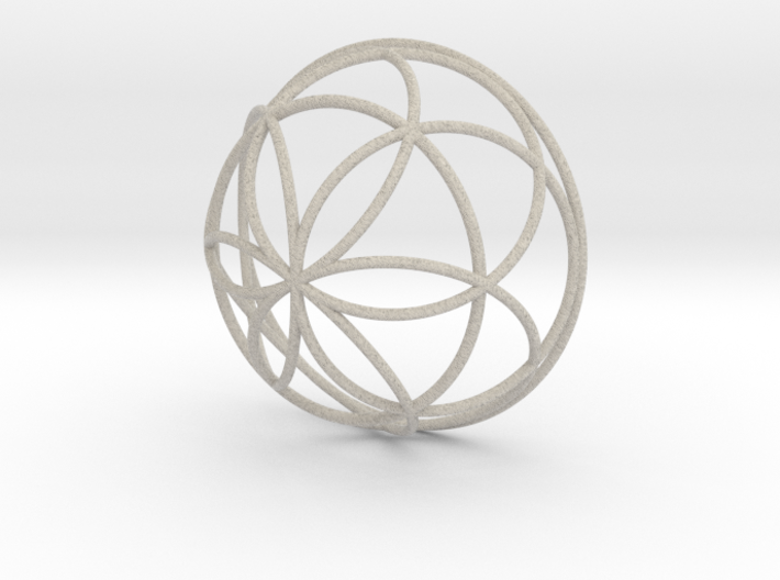 3D 100mm Half Orb of Life (3D Seed of Life) 3d printed