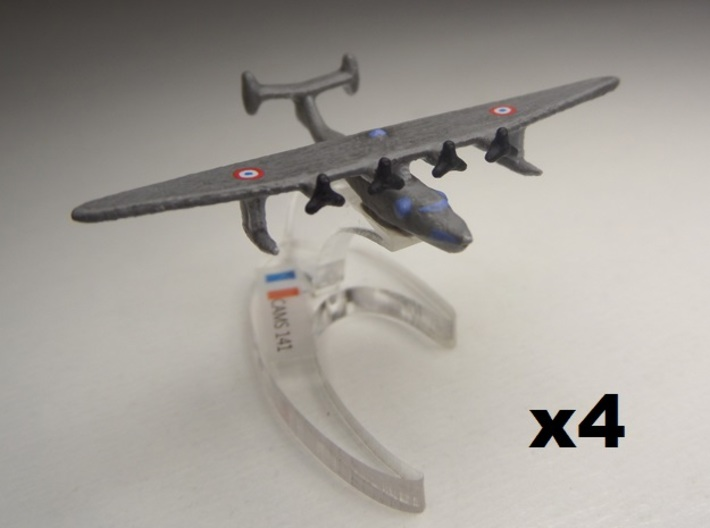 Potez-CAMS 141 1/900 x4 3d printed Comes unpainted without stand. Set of 4 planes.