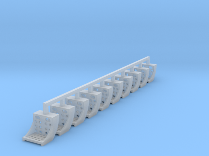 10x Running Board Steps - HO 3d printed