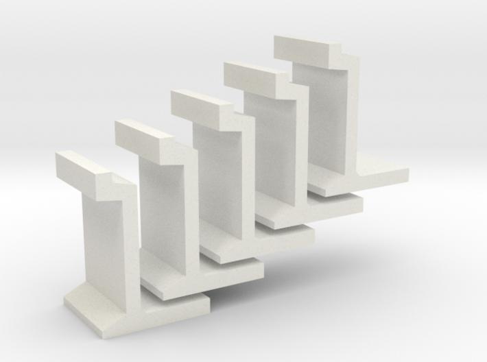 H0 platform wall / perronwand 1:87 5pc 3d printed