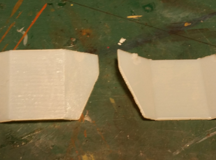 HO Scale Tank Car Shield for 3 Cars 3d printed Sample pieces.
