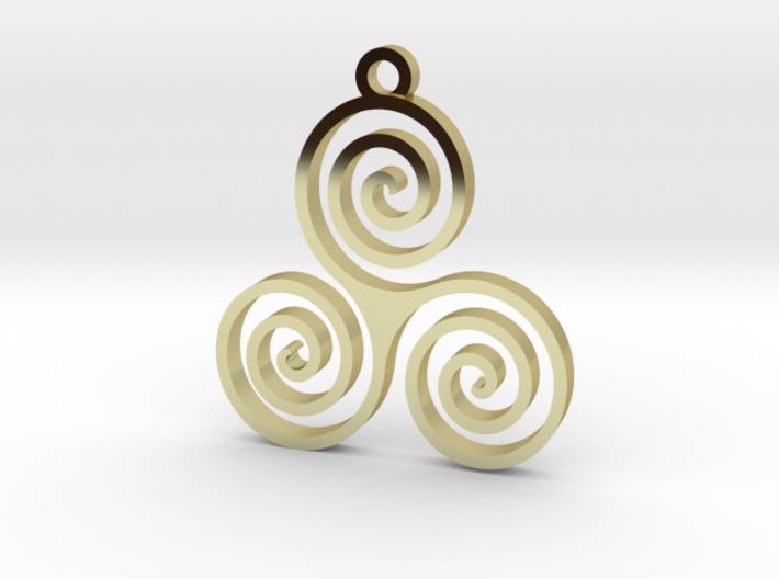 Triple Spiral (Triskele) - Sacred Geometry 3d printed