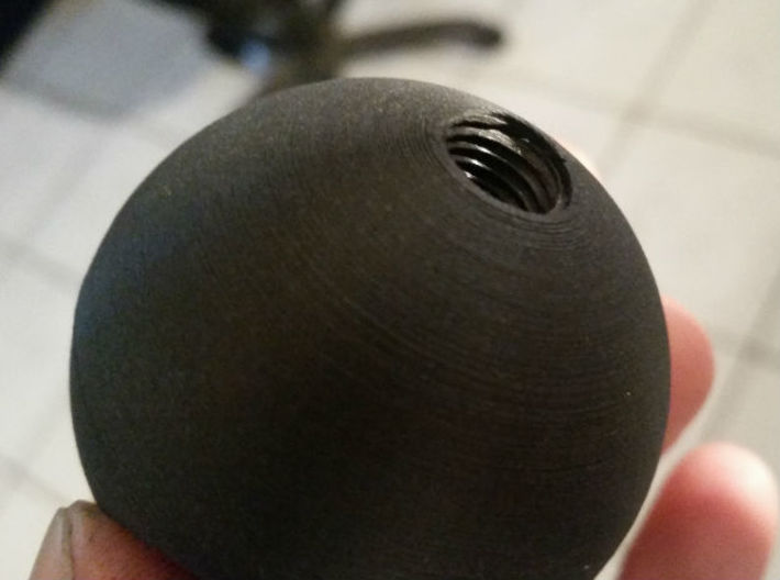 Shift Knob (Turbo inspired) 3d printed Bottom view of thread