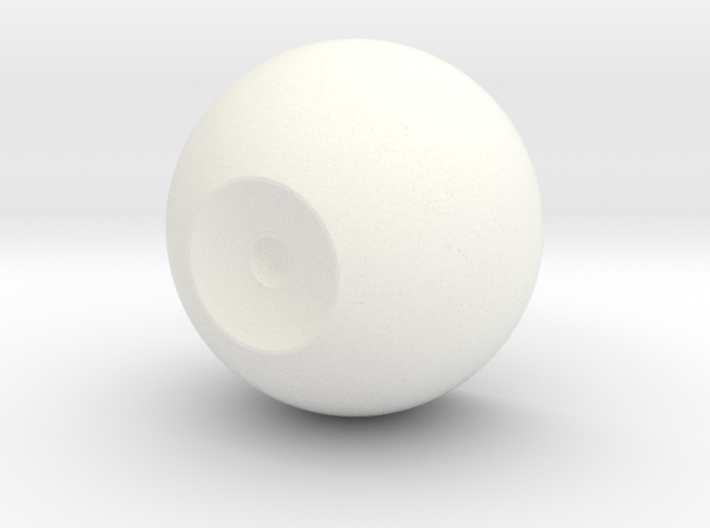 """Version #2 1"""" Inner Eye Core with 4mm pupil 3d printed"""