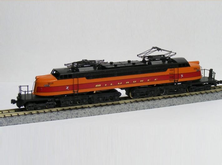 NScale EF4 Little Joe / 800, South Shore Railroad 3d printed Model built and painted by custom modeler Jeff King of MilwaukeeRoadTrainShop.com. Photo by Jeff King.