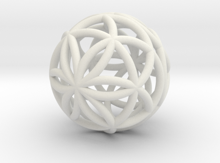 3D 25mm Orb of Life (3D Seed of Life)  3d printed