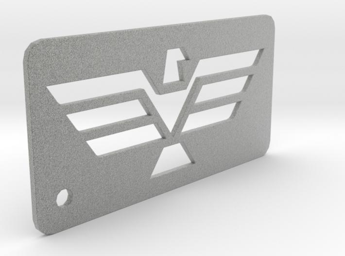 Eagle Dogtag Keychain 3d printed