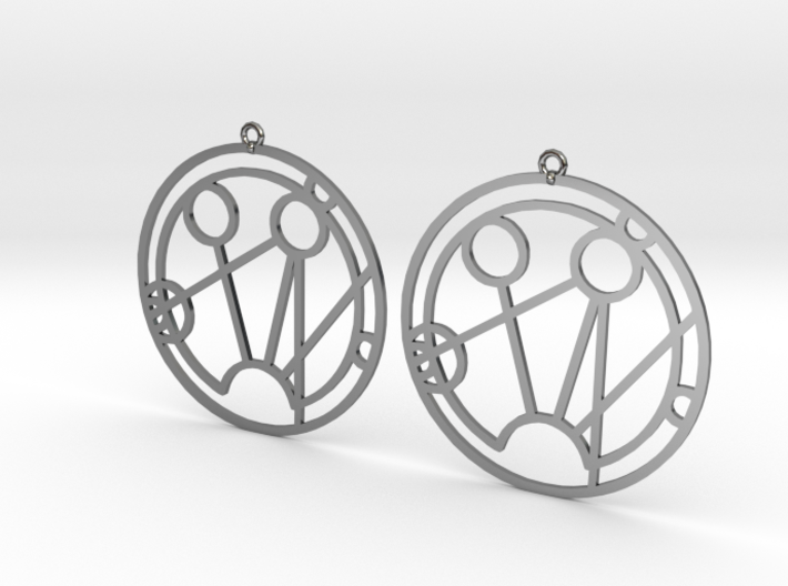 Samantha - Earrings - Series 1 3d printed