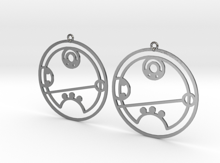 Riley - Earrings - Series 1 3d printed
