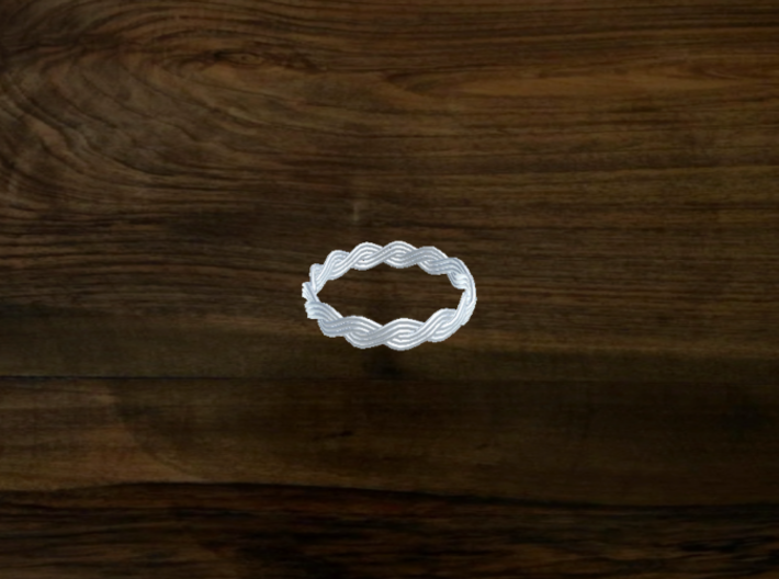 Turk's Head Knot Ring 2 Part X 13 Bight - Size 16. 3d printed