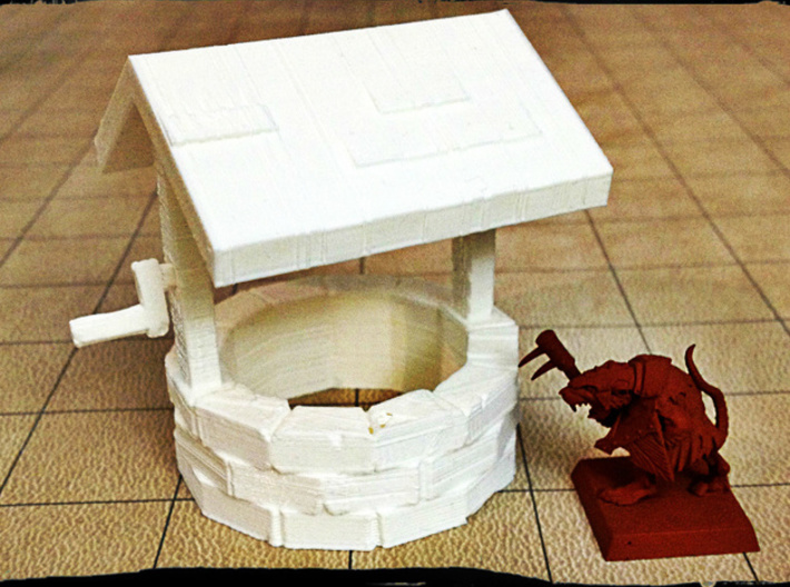 Stone well 28mm 3d printed