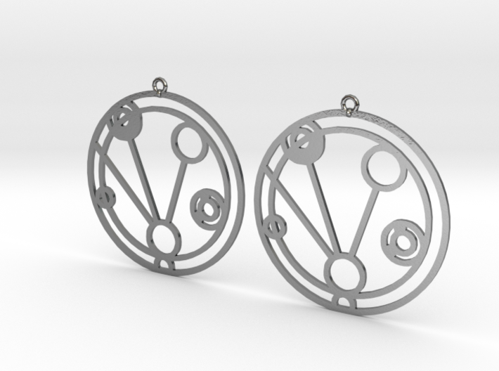 Makenzie - Earrings - Series 1 3d printed