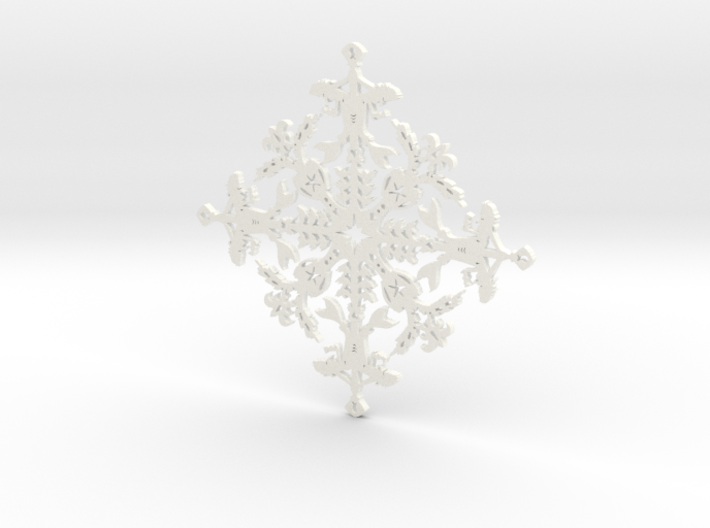 Mermaid Snowflake 3d printed