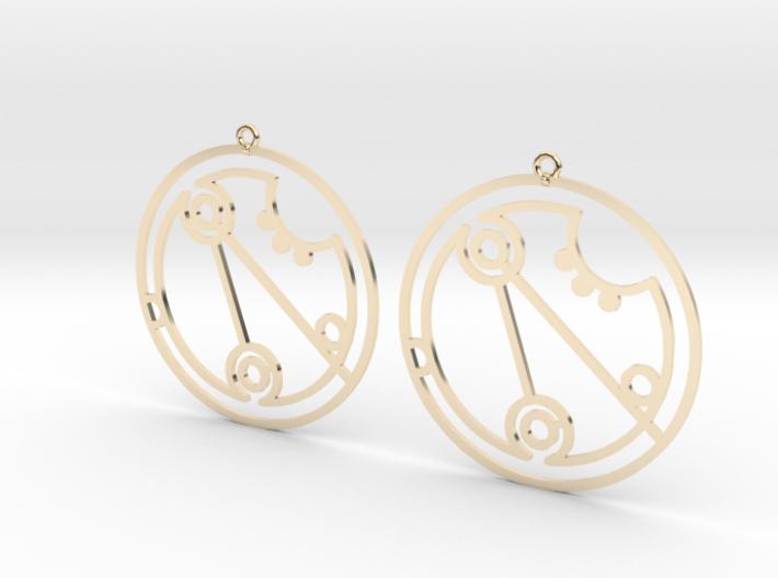 Georgia - Earrings - Series 1 3d printed