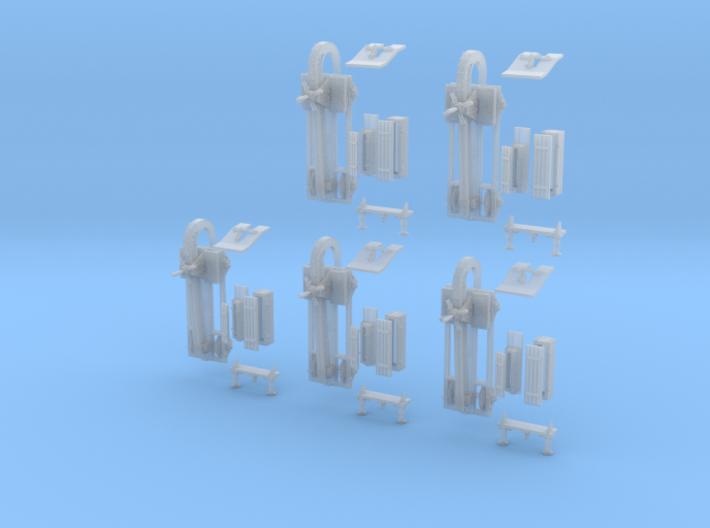 1-120 5xSets Schienenwolf RailRipper 3d printed