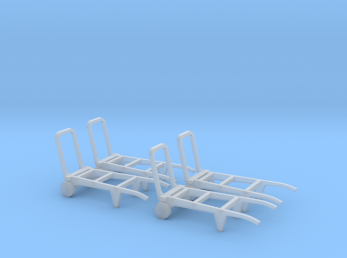 Railway porter trolleys (HO) 3d printed