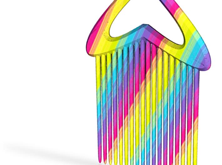 Comb2-rainbow 3d printed