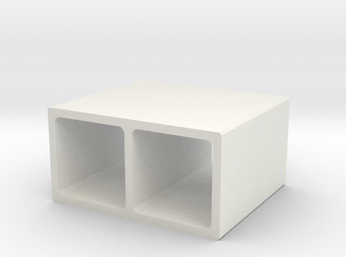 N/H0 Box Culvert Double Tube (size 1) 3d printed