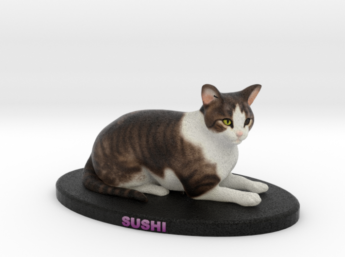 Custom Cat Figurine - Sushi 3d printed