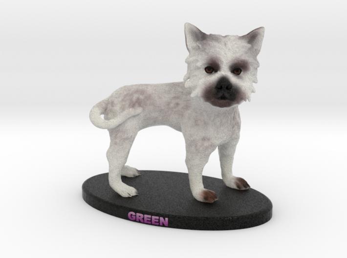 Custom Dog Figurine - Green 3d printed