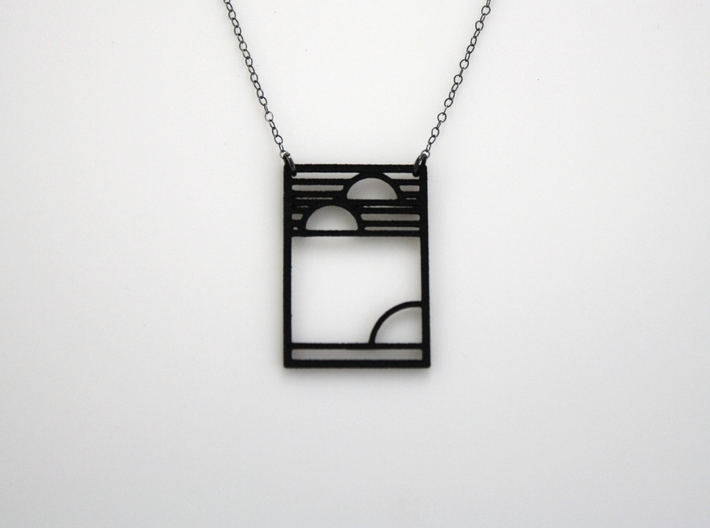 Art Deco Pendant - Yesterday, Today, & Tomorrow 3d printed Chain Not Included