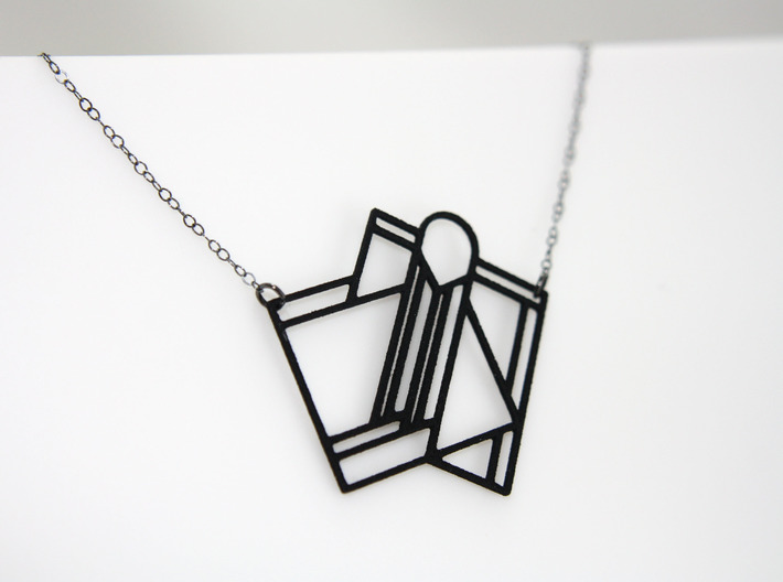 Art Deco Pendant - A Little Off Center 3d printed Chain Not Included