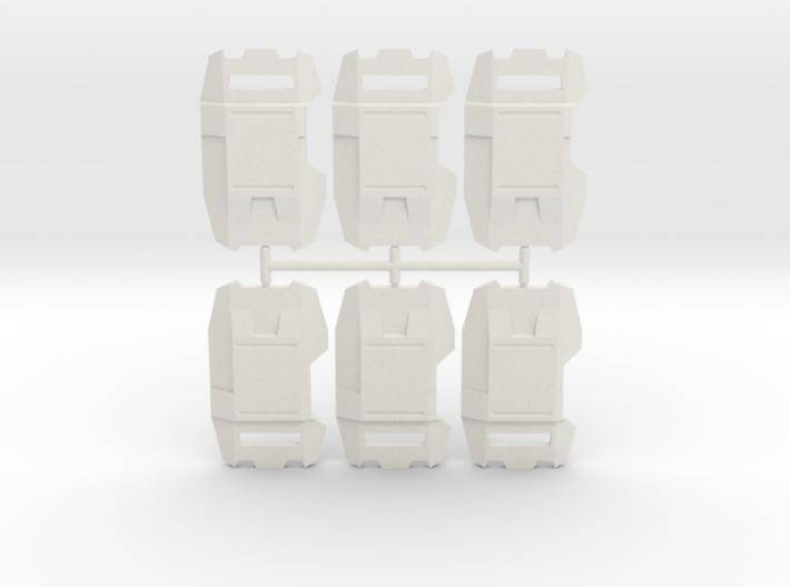 Phalanx Shield Pack 3d printed