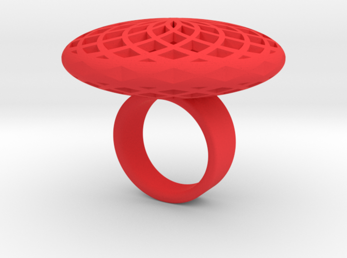 SACRED CIRCLE RING Large 3d printed