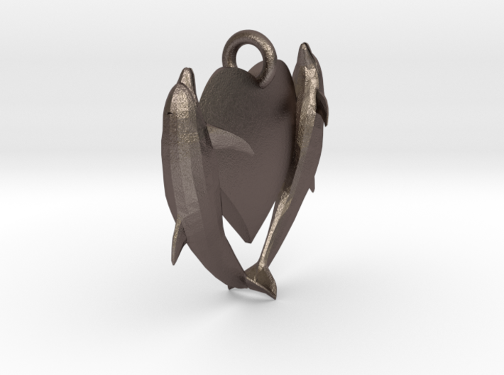 Delphin Necklace Small 3d printed