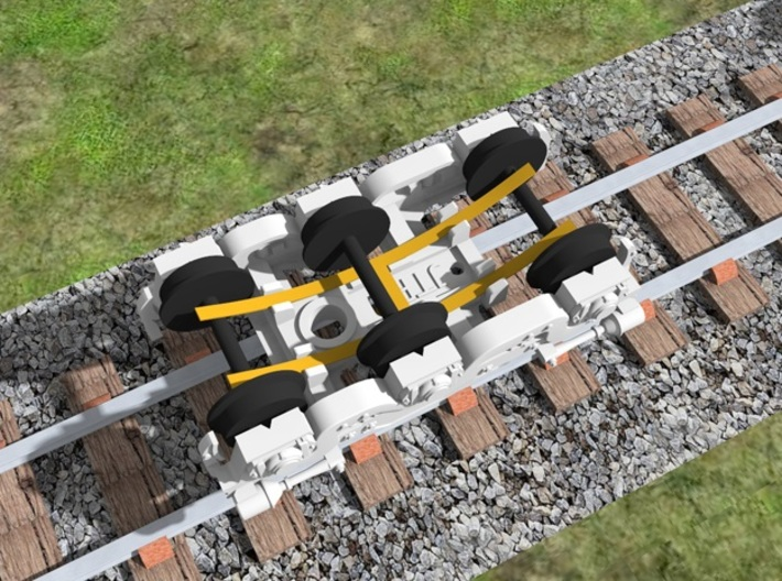 Atlas Alco C-628 Dummy Chassis Kit - N Scale 1:160 3d printed Truck with Axel Wipers