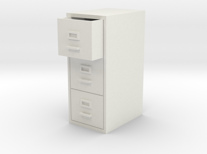 Single Filing Cabinet 3d printed