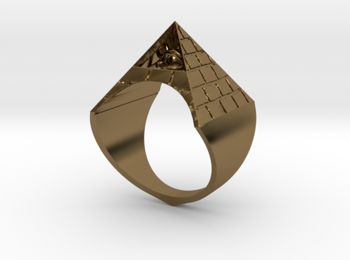 Illuminati Ring 3d printed